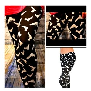 NWT Guns leggings- punk rock -pin up hip hop